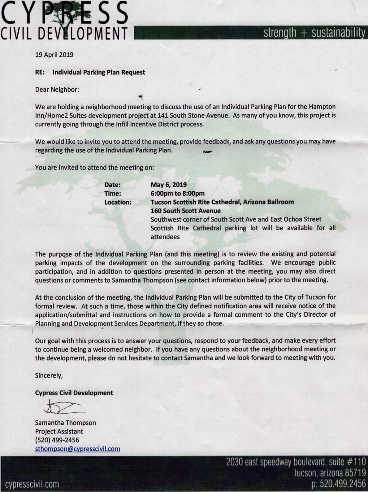 IPP for Hilton notice